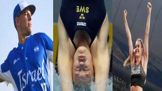 Danny Valencia, Emma Gullstrand and Alysha Newman, Miami Hurricanes in Tokyo Olympics