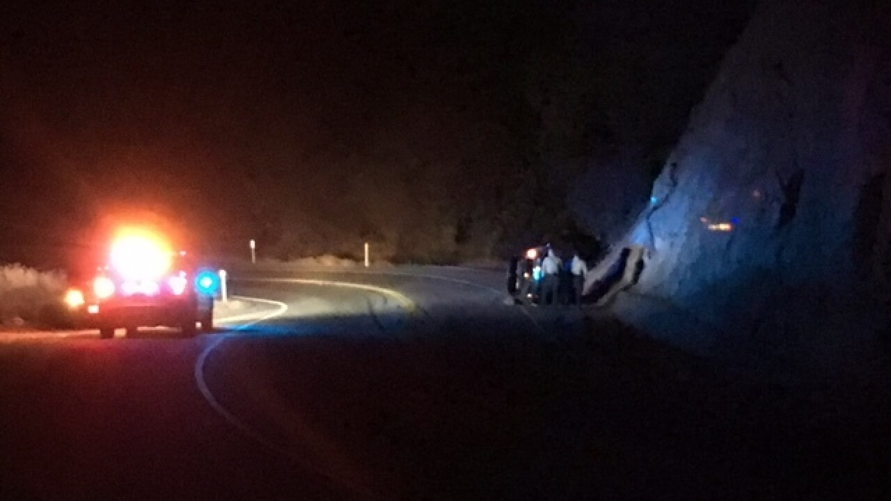 Rollover crash in the Canyon sends one man to the hospital