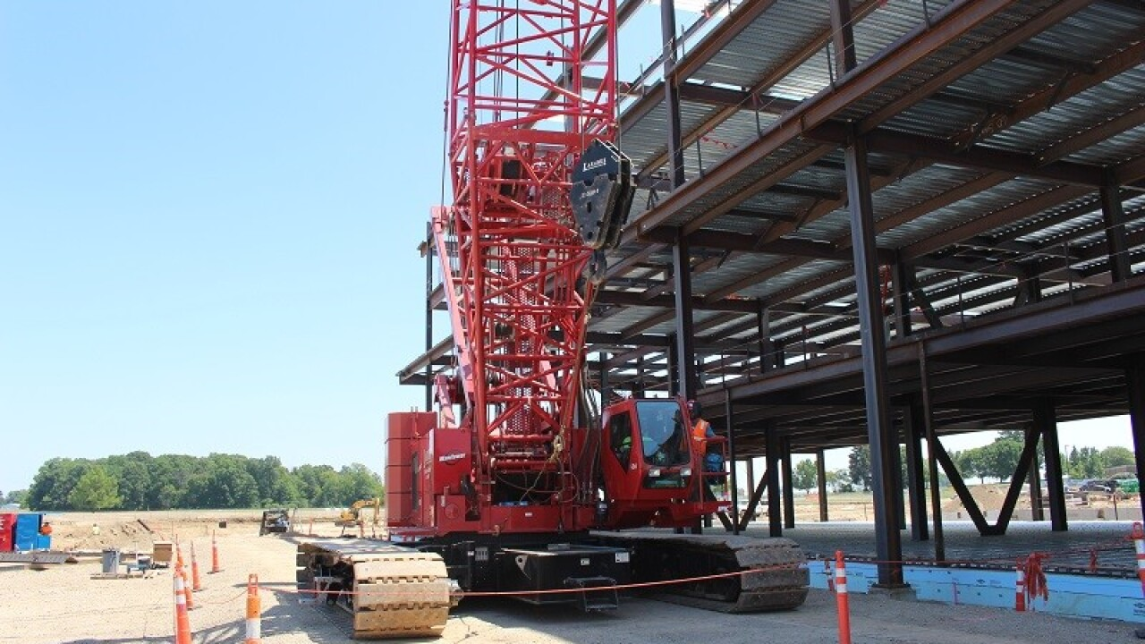 Crane Operator Helps Build the Future of Health Care