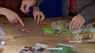 Mosaic Heart craft gives kids hours of snow day fun