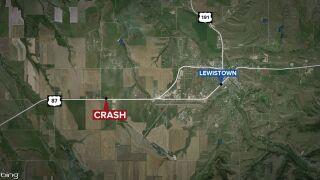 Woman dies in two-vehicle crash in Fergus County