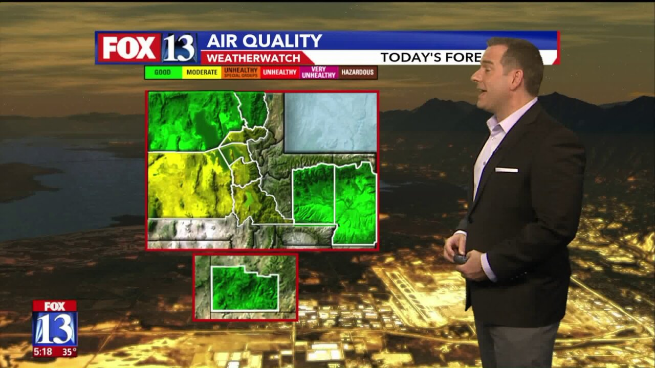 Yellow air quality with mild, warm weather for many in UtahFriday
