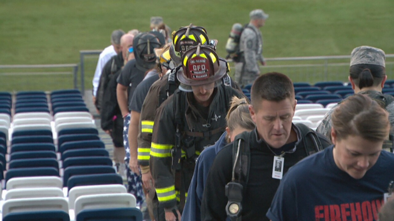 Dozens climb 2,200 steps at Nissan Stadium for 9/11 firefighters