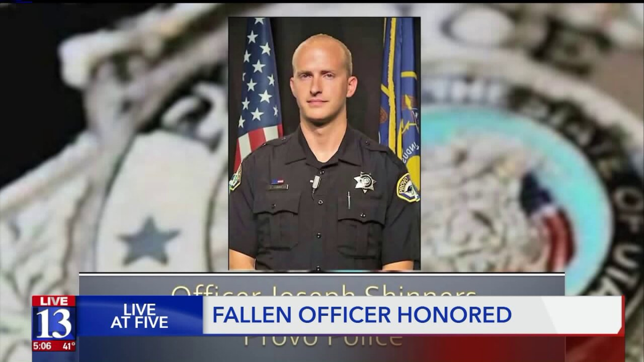 Family and friends of fallen Provo officer helped by community support one yearlater