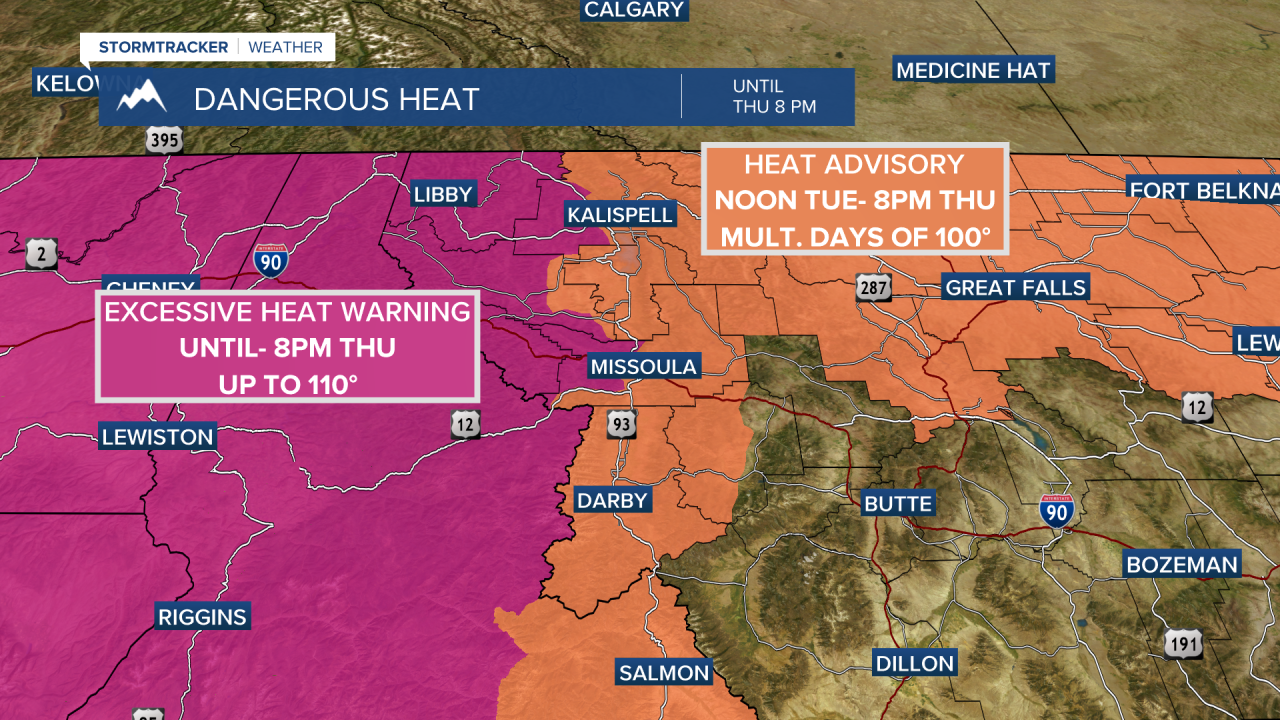 Excessive Heat Warnings and Heat Advisories in place this week