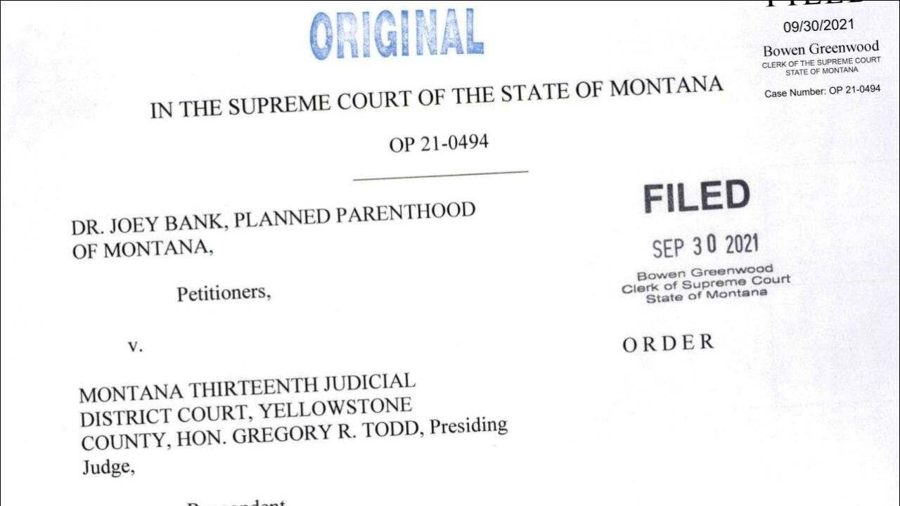 Montana Supreme Court declines to block abortion laws