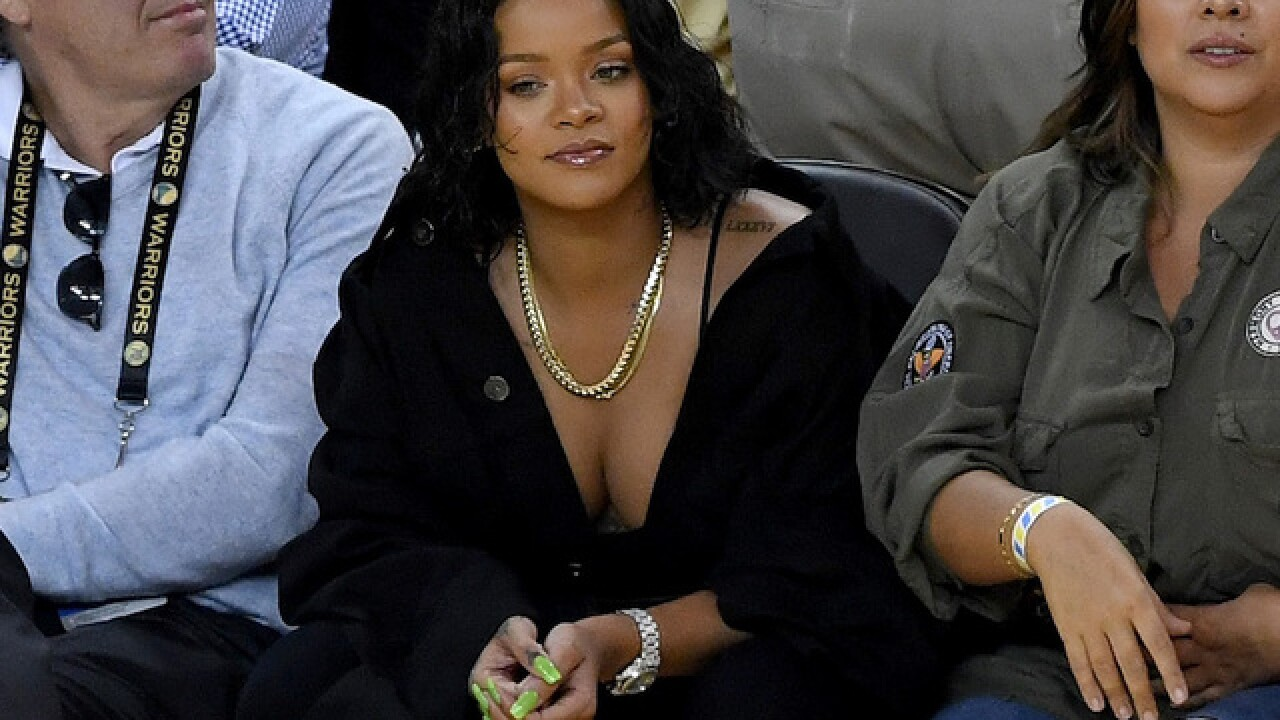 3afc37a7e88 NBA Finals  Rihanna stole the show during Game 1