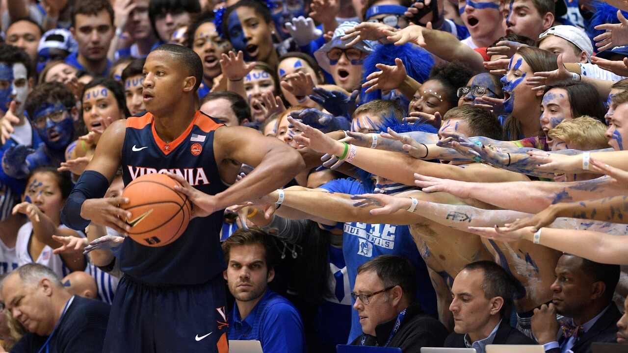 No. 2 Virginia tops Duke 65-63, snags first road win at Cameron Indoor since1995