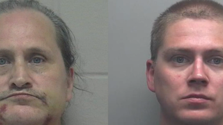 Father and son charged with hate crimes