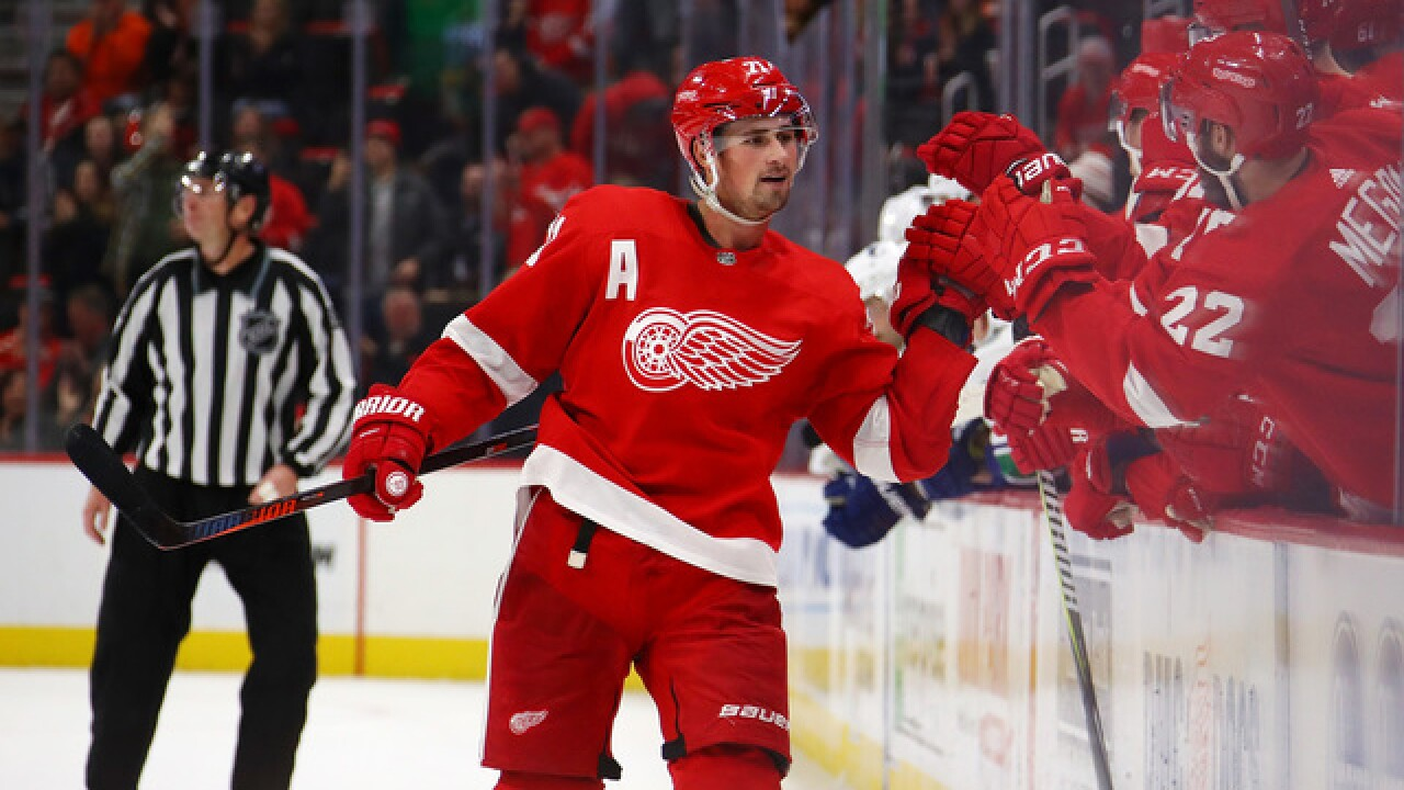 Red Wings rally past Rangers in OT