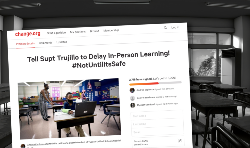 Online petition to delay hybrid learning in TUSD