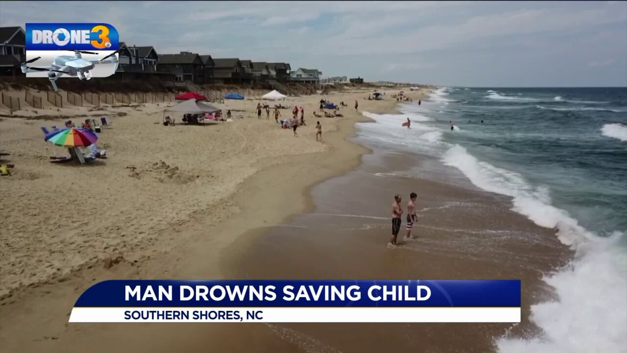 Man in Outer Banks dies trying to save 12-year-old from roughsurf