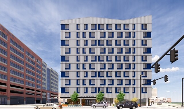 Rendering of rehabilitated 655 Broadway Building