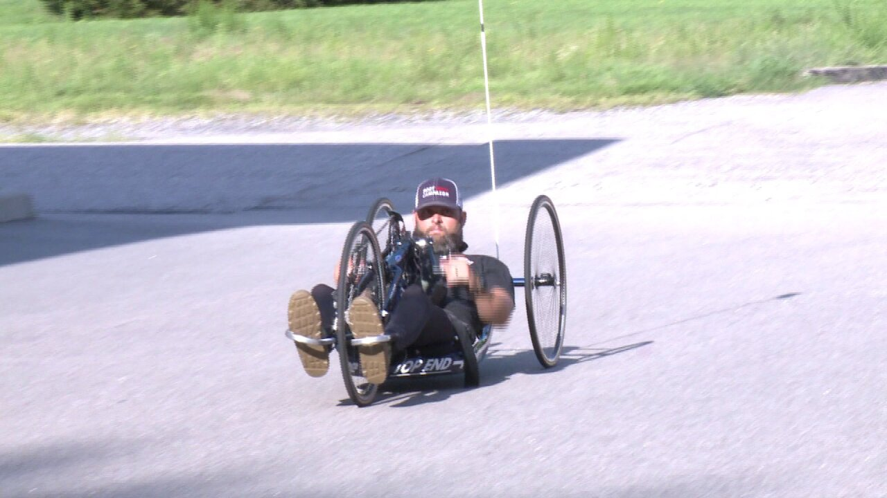 Paralyzed veteran raising awareness for soldiers battling invisible wounds through handcyclingtrek