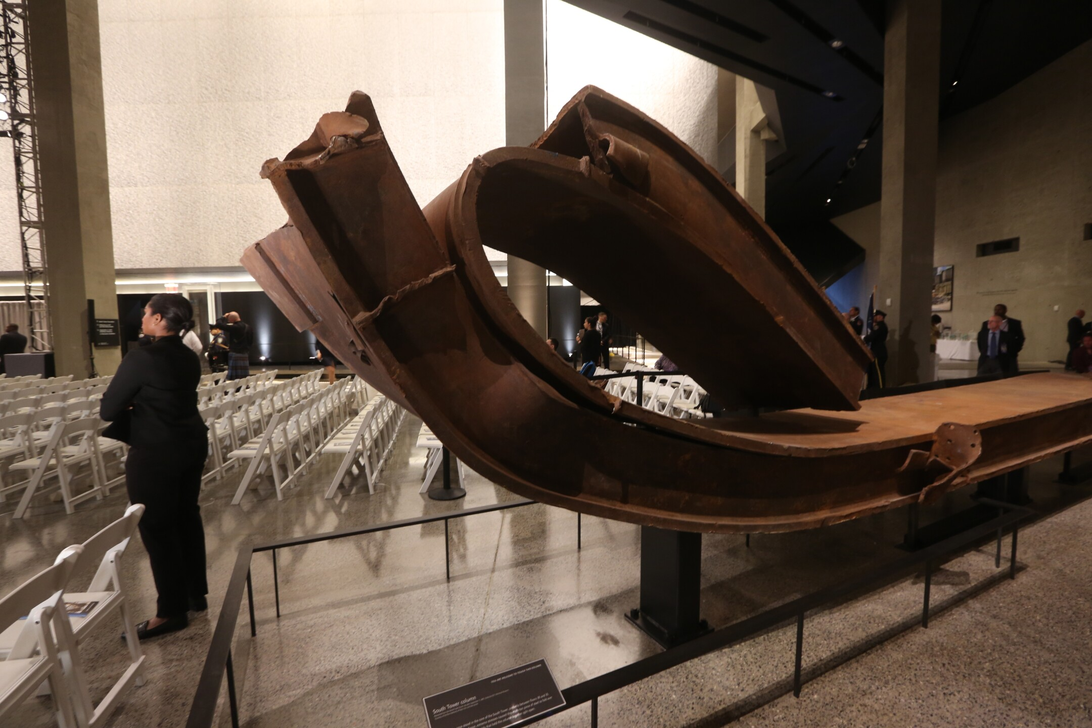 during the dedication ceremony at the National September 11 Memorial Museum in New York, May 15, 2014.