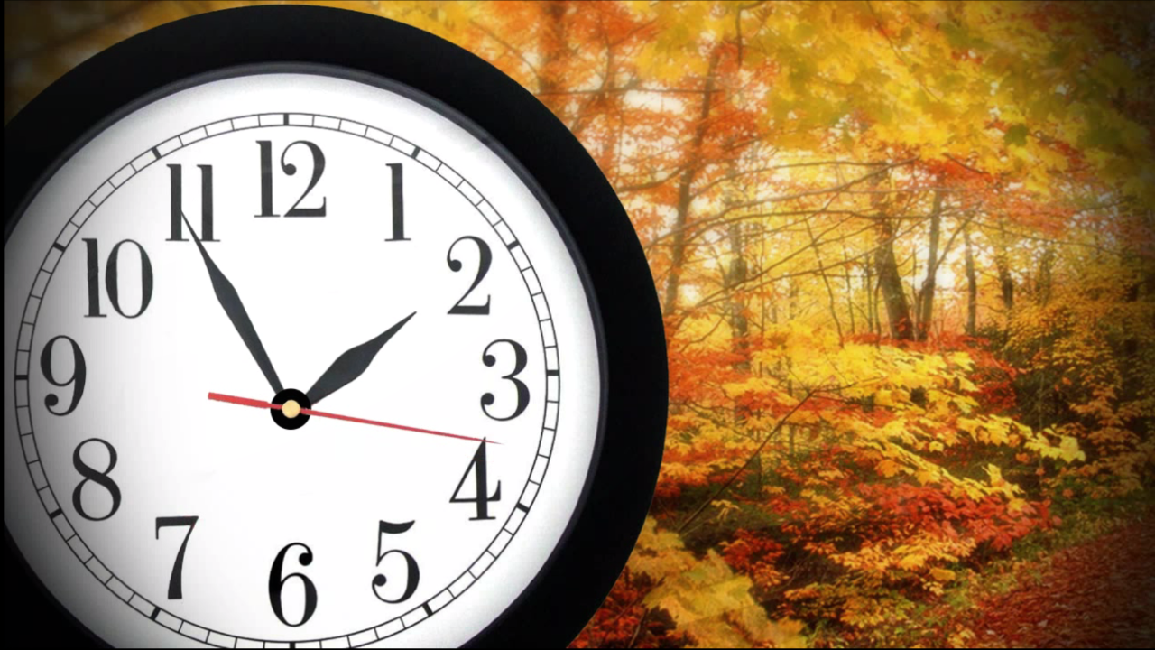 Set clocks back one hour at 2 a.m.Sunday!