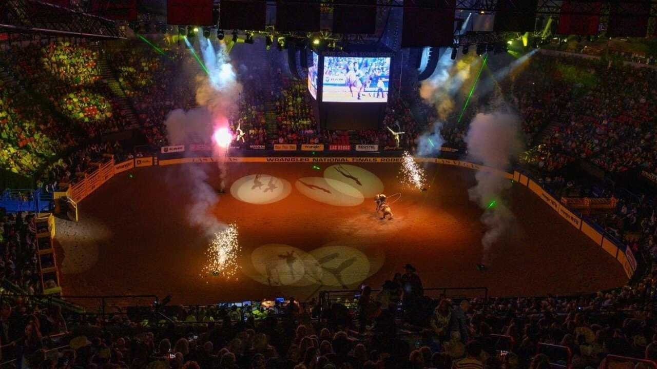 The Wrangler NFR at the Thomas & Mack Center on Saturday, Dec. 14, 2019.