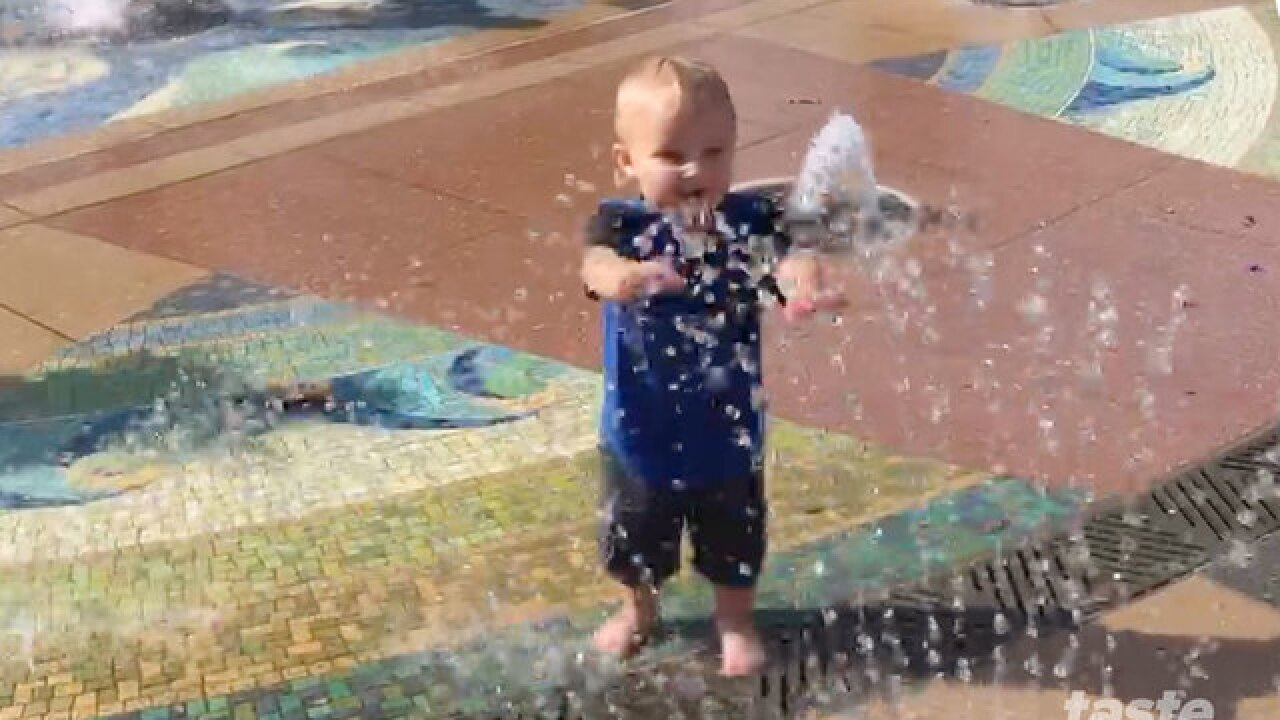 Splash Pad at Indian Riverside Park is a mom fav