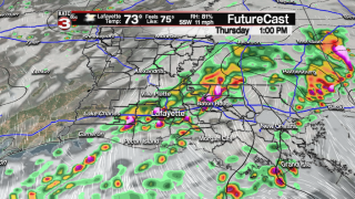 Dry Wednesday before storms arrive Thursday