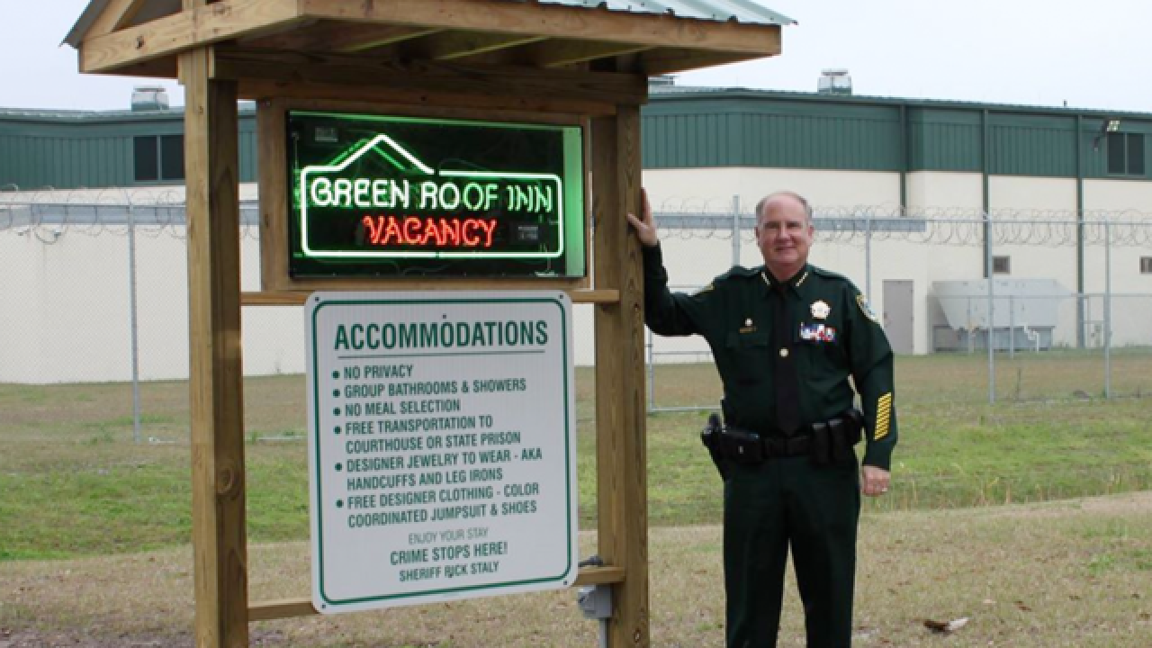 Flagler County Sheriff Rick Staly renames jail the 'Green Roof Inn'
