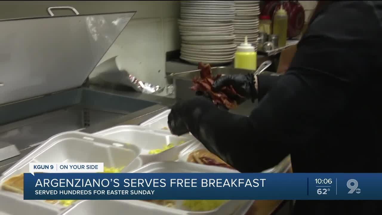 Argenziano's feeds hundreds on Easter Sunday