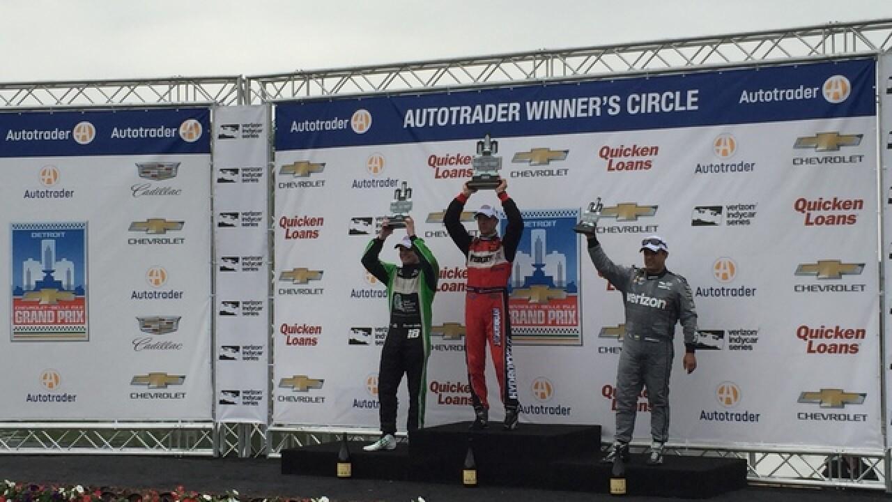 Sebastien Bourdais win Dual in Detroit race one