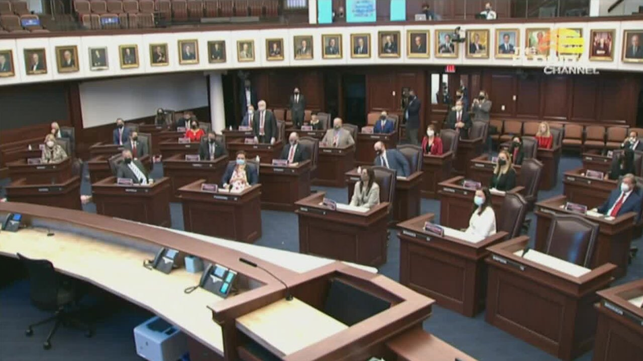 Florida's presidential electors meet in Tallahassee on Dec. 14, 2020.
