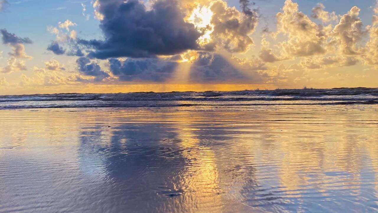 North Padre Beach Sunrise - Photo By: FB Coastal Bend Weather Watcher Luke Markert