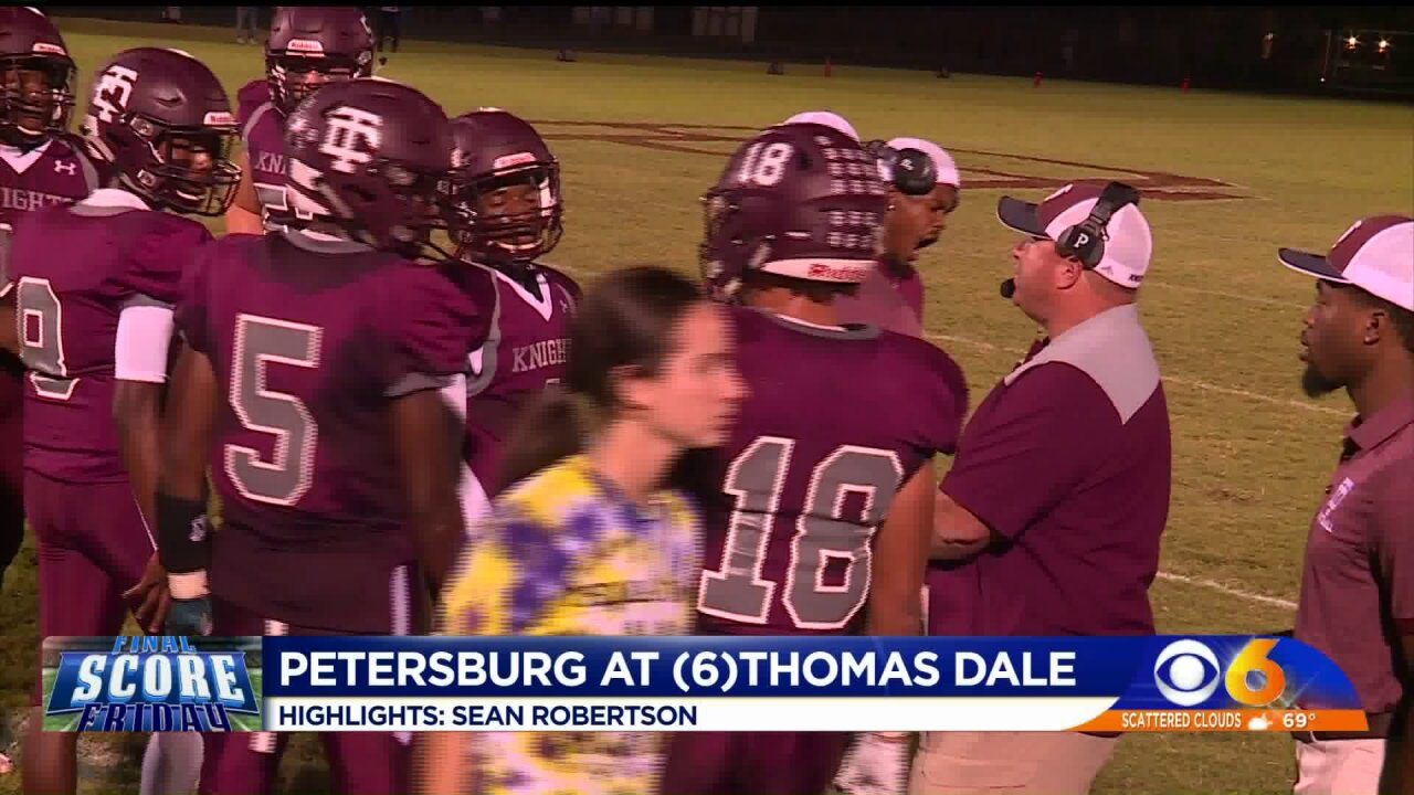 Thomas Dale overcomes opponents and illness to beat Petersburg33-24