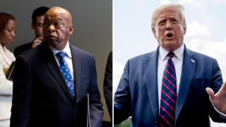 President Donald Trump says he won't visit Capitol to pay respects to Rep. John Lewis