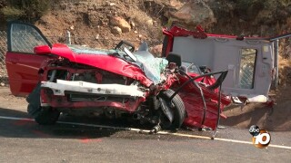 Three injured in head-on collision in Poway