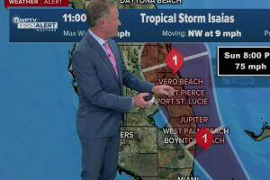 11 p.m. weather update for Tropical Storm Isaias