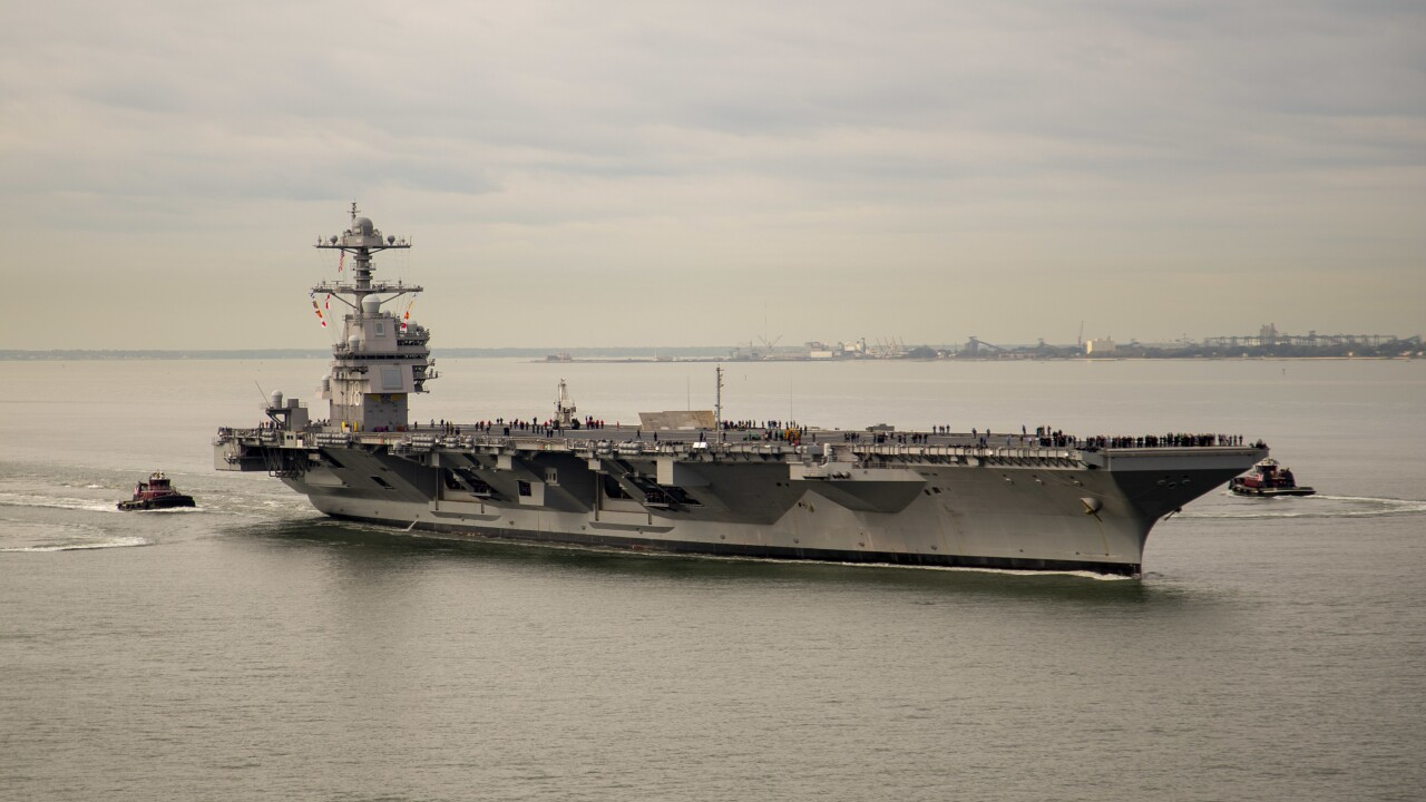 Secretary of the Navy guarantees USS Gerald R. Ford will be deployable before 2024
