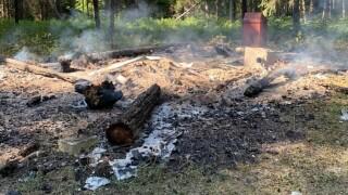 Ford Creek Cabin fire