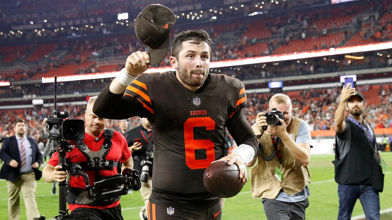 Baker Mayfield replaces Tyrod Taylor at QB, Browns snap 19-game winlessstreak