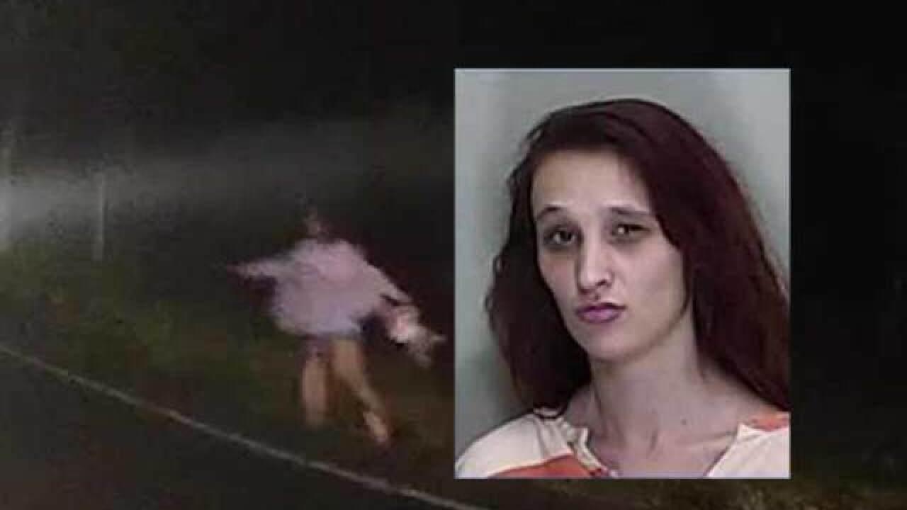 Florida mother runs through traffic, drops baby