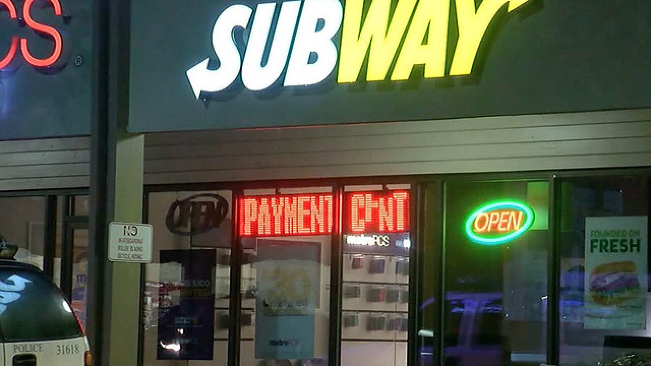 Police: Man shot at Subway robbery suspect