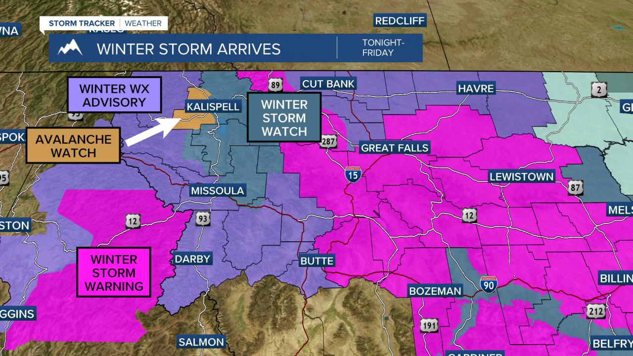 Winter storm bears down on Western Montana