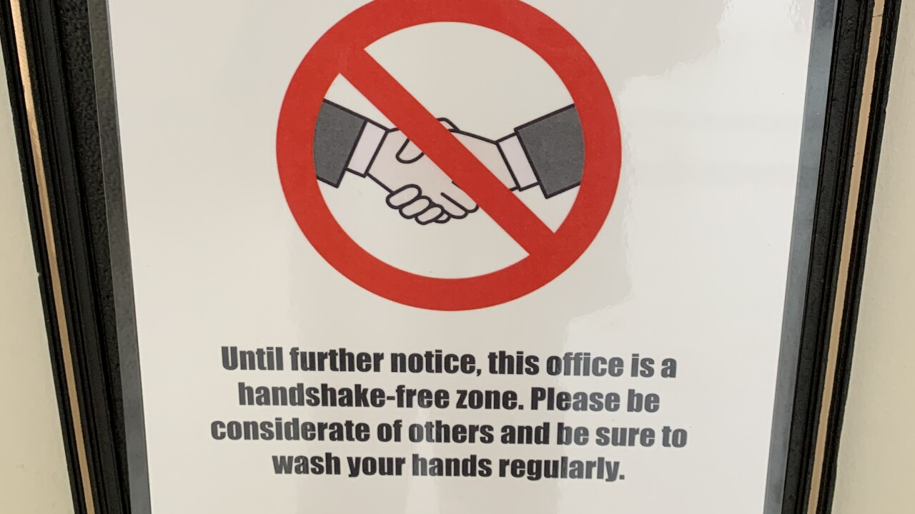 No handshake zone