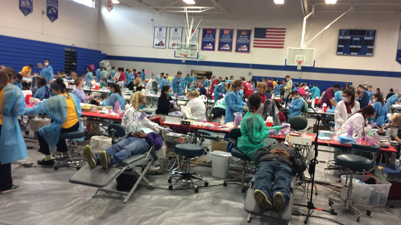 Hundreds of low-income families receive free dental work in Yorktown