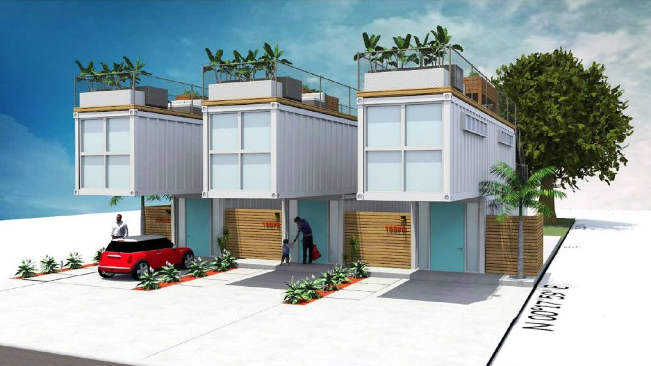 tiny home shipping container