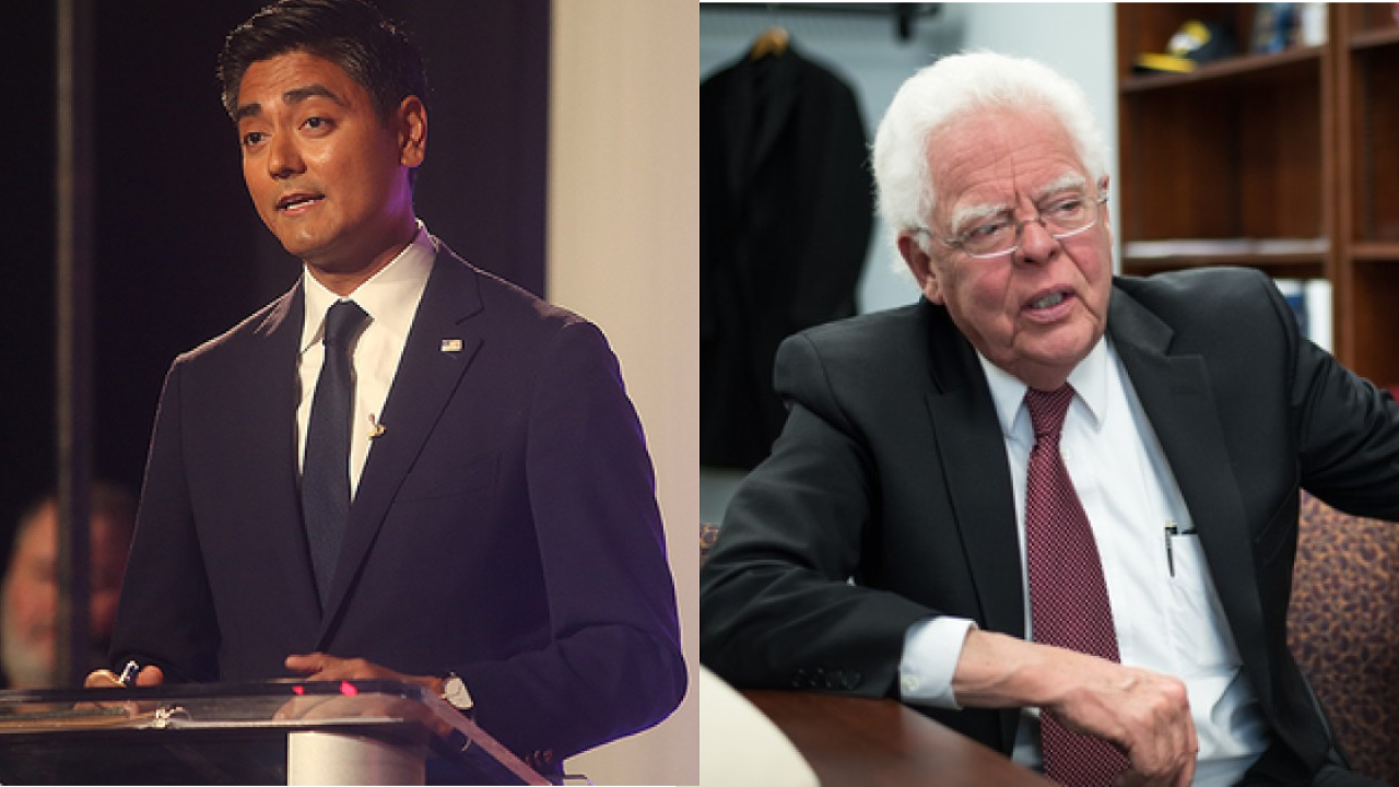 Aftab Pureval (left) and David Mann (right) will face off in the race to be Cincinnati's next mayor.