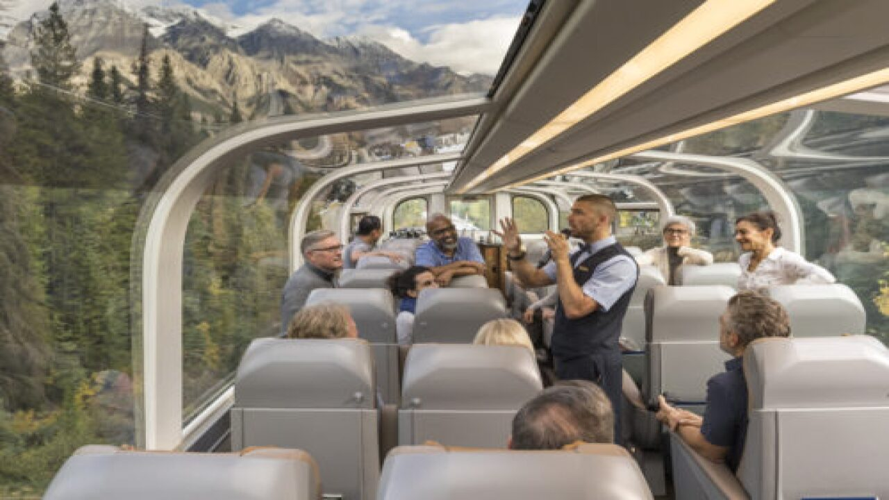 You Can Travel Through The Canadian Rockies In A Glass-domed Train