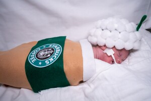 NICU babies dressed up for first Halloween