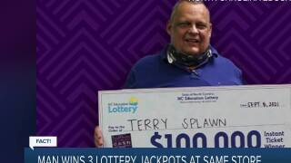 Fact or Fiction: Man wins lottery three times?
