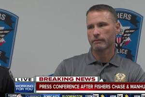 Press conference after Fishers chase and manhunt