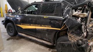 Wyoming trooper injured in crash