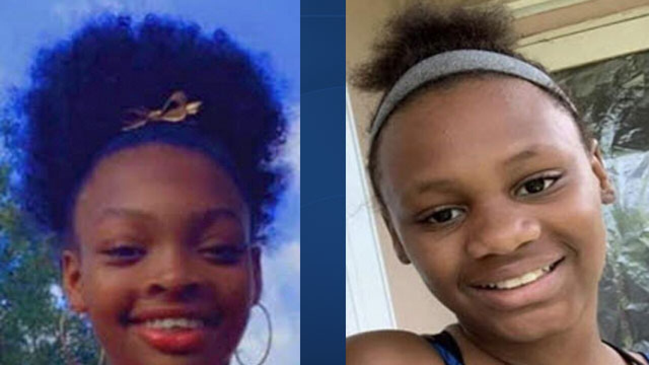Jazmine Brown and Markevia Wright, girls involved in Florida Amber Alert on Jan. 29, 2021