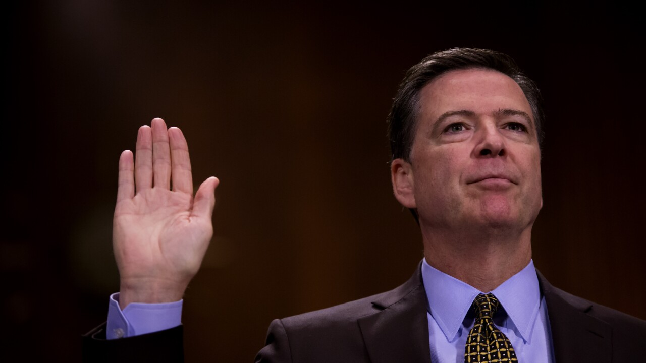 Former FBI Director James Comey joins Stephen Colbert on The Late Show