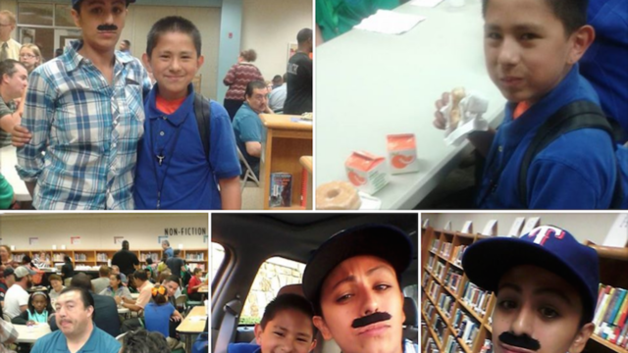 Single mom dresses as a man so she can attend 'Dads and Donuts' event at son's school
